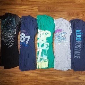Aeropostale medium shirt lot